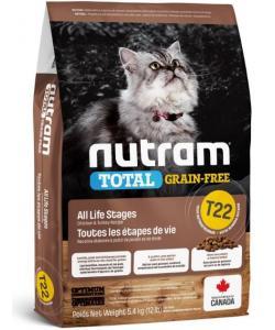 Беззерновой корм для котят и кошек с курицей и индейкой T22 Nutram Total Grain Free