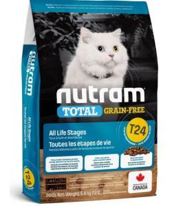 Беззерновой корм для котят и кошек с лососем и форелью T24 Nutram Total Grain Free