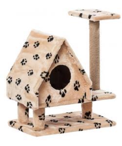 Домик для кошек меховой «Избушка на ножках» 62*37*73 см, джут