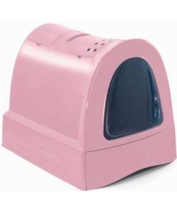 Туалет для кошек закрытый ZUMA, пепельно-розовый, 40*56*42,5 см