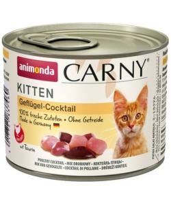 Консервы для котят коктейль из мяса домашней птицы (CARNY Poultry Kitten)