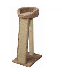 Когтеточка для кошек ковролиновая «Хюльси» 58*46*114 см, сизаль