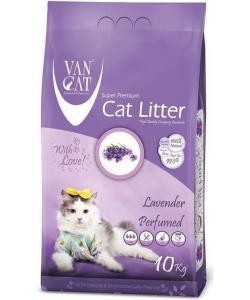 Комкующийся наполнитель без пыли с ароматом Лаванды, пакет (Lavender)
