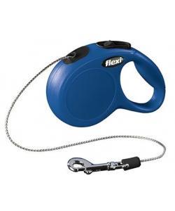 Рулетка-трос для кошек, 3 м до 8 кг, синяя