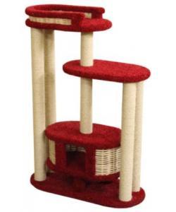 Домик когтеточка для кошек ковролиновый «Чаруша» высокий 100*42*145 см, сизаль