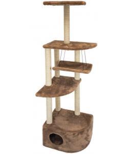 """Комплекс-когтеточка """"Башня угловая"""" с гамаком, 48*48*h171 см, джут беленый, коричневый"""