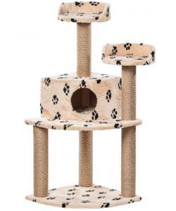 Комплекс для кошек «Фурия» меховой, 55*55*133 см, джут