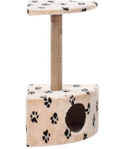 Домик для кошек меховой «Угловой» 42*42*80 см, джут