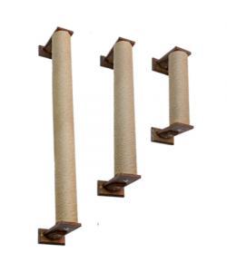 Когтеточка столбик настенный Шоколад для кошек 100см