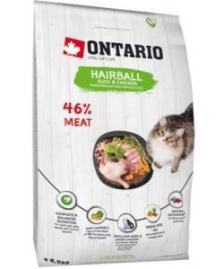 Для вывода шерсти у кошек с уткой и курицей (Ontario Cat Hairball)