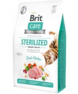 Гипоаллергенный беззерновой корм для стерилизованных кошек профилактика МКБ, с курицей Care Cat GF Sterilized Urinary Health