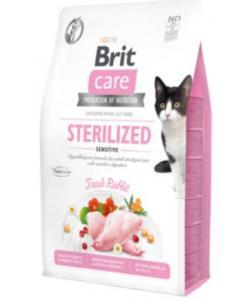 Гипоаллергенный беззерновой корм для стерилизованных кошек с чувствительным пищеварением, с кроликом Care Cat GF Sterilized Sensitive