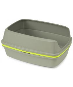 Многофункциональный туалет-лоток для кошек Lift to Sift, 50,2*38,4*24,1 см, серый+лимонный