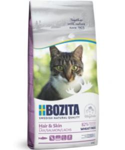 Сухой корм для взрослых и растущих кошек для кожи и шерсти, с лососем, Hair & Skin Wheat Free Salmon 30/15
