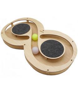 Игрушка для кошек развивающая Восьмерка с шарикамии и когтеточками, 49*27*3,6 см