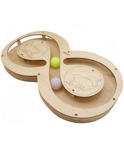 Игрушка для кошек развивающая Восьмерка с шарикамии, 49*27*3,6 см