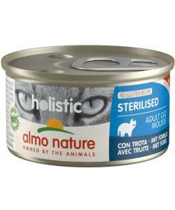 Консервы для кастрированных кошек с форелью (Holistic Cat wet Sterilised - with Trout)