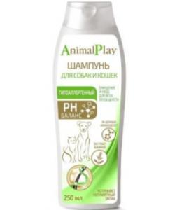 Шампунь гипоаллергенный с аминокислотами и экстрактом шалфея для собак и кошек
