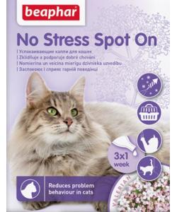 Успокаивающие капли No Stress Spot On для кошек, 3 пипетки