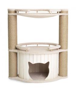 """Комплекс для кошек """"Норд"""" с бортиками и гамаком, белый 70*45*80 см."""