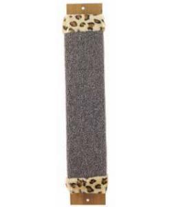 Когтеточка плоская ковролин с мехом 11*57 см (ЩГ-11100)