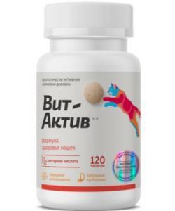 Биологически активная кормовая добавка Вит-Актив  для иммунитета, формула здоровья кошек , 120 таб