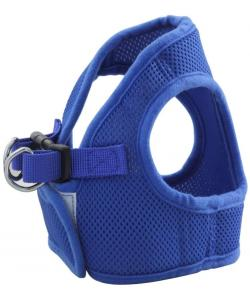 Комплект: поводок и шлейка-жилетка, обхват груди 40 см, синий  (HL02M)