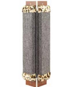 Когтеточка угловая, ковролин с мехом, 20*53 см (Щг-12200)