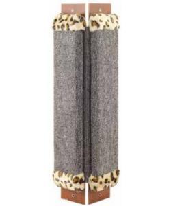 Когтеточка угловая, ковролин с мехом, 24*57 см (Щг-12300)