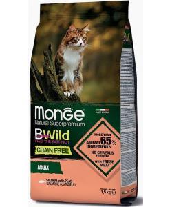 Cat BWild GRAIN FREE беззерновой корм из лосося для взрослых кошек