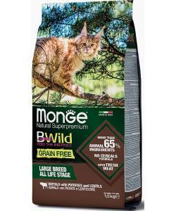 Cat BWild GRAIN FREE беззерновой корм из мяса буйвола для крупных кошек всех возрастов
