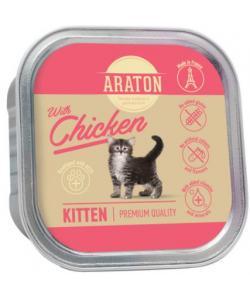 Безглютеновые консервы для котят с курицей  (Araton Kitten with chicken)