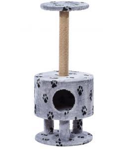 Домик для кошек меховой «Круглый на ножках» 40*99 см, джут