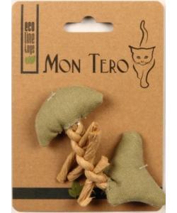 """ЭКО игрушка """"Рыбья кость"""" с кошачьей мятой, 11 см зеленая"""