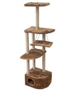 """Комплекс """"Башня угловая"""" с гамаком, столбик сизалево-джутовый, 48*48*h171"""