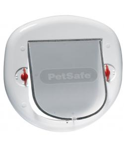 Дверца StayWell для крупных кошек и мелких собак, 4 позиции, клапан 18 х 20 см, белая