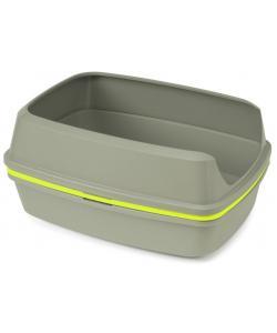Многофункциональный туалет-лоток для кошек Lift to Sift, 57*43*27 см, серый+лимонный