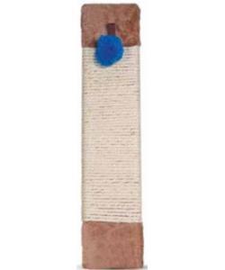 Когтеточка-доска сизаль с мехом и игрушкой, 12*50 см (817NT)