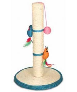 Когтеточка на подставке с мышками и шариком 50 см (485NT)