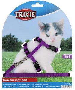 Шлейка с поводком для котят, нейлон 19/31см, 8мм.(4182)