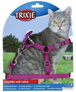 """Шлейка с поводком для кошек, """"Premium"""" 26-37см/10мм, 1,2м (41891)"""
