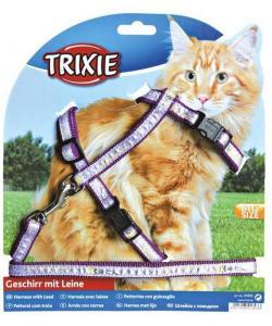 Шлейка с поводком для крупных кошек 34-57см./13мм, 1,2м (41893)