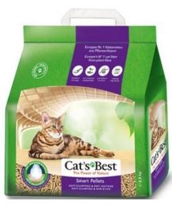Комкующийся древесный наполнитель для длинношерстных кошек, 5л (Smart Pellets)