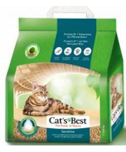 Комкующийся древесный наполнитель для кошек и котят, 8л (Sensitive)