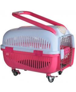 Переноска пластиковая для животных на колесах с ручкой, 58*37*43,5 см (O91)