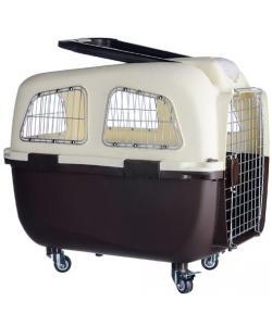 Переноска пластиковая для животных на колесах с ручкой, 70*48*61 см (O92)