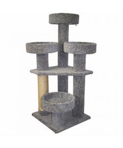 """Игровой комплекс для кошек ковролиновый """"Трейд"""" джут, 50*50*120см."""