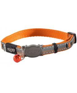 """Ошейни для кошек NightCat """"Птички на проводах"""", оранжевый, ширина 1,1см, размер 20-31см"""