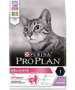 Delicate feline rich in Turkey dry сухой корм для взрослых кошек с проблемным пищеварением (с индейкой и рисом)
