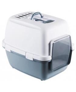Туалет-домик Cathy Comfort с уголным фильтром и совочком, синий, 58х45х48см
